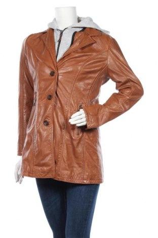 Дамско кожено яке Gipsy, Размер M, Цвят Кафяв, Естествена кожа, Цена 269,25лв.