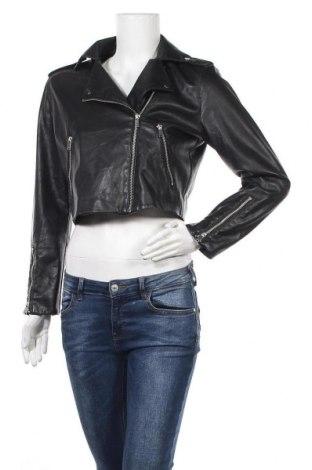 Γυναικείο δερμάτινο μπουφάν H&M, Μέγεθος M, Χρώμα Μαύρο, Δερματίνη, Τιμή 29,62€