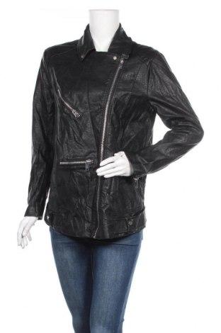 Дамско кожено яке H&M Divided, Размер XL, Цвят Черен, Еко кожа, Цена 46,31лв.