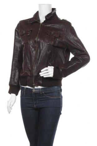 Γυναικείο δερμάτινο μπουφάν H&M L.O.G.G., Μέγεθος L, Χρώμα Καφέ, Γνήσιο δέρμα, Τιμή 25,92€
