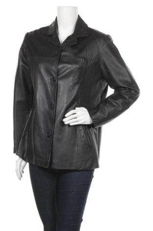Дамско кожено яке Helline, Размер L, Цвят Черен, Естествена кожа, Цена 20,48лв.