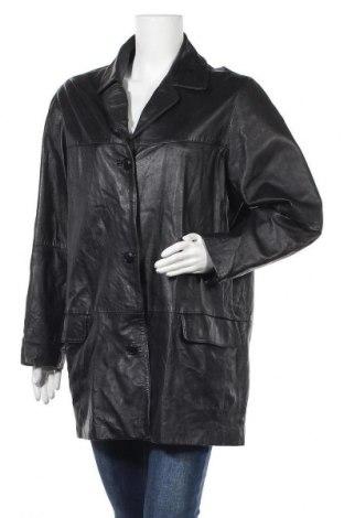 Дамско кожено яке Hirsch, Размер L, Цвят Черен, Естествена кожа, Цена 19,95лв.