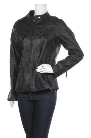 Γυναικείο δερμάτινο μπουφάν Janina, Μέγεθος L, Χρώμα Μαύρο, Δερματίνη, Τιμή 13,32€