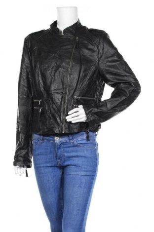 Дамско кожено яке Just Jeans, Размер XL, Цвят Черен, Еко кожа, Цена 22,68лв.