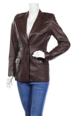 Дамско кожено яке Karen Millen, Размер M, Цвят Кафяв, Естествена кожа, Цена 103,60лв.