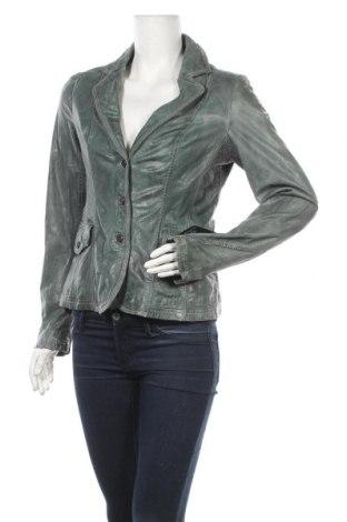 Дамско кожено яке Milestone, Размер M, Цвят Зелен, Естествена кожа, Цена 161,85лв.