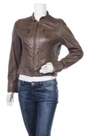 Дамско кожено яке Molltan, Размер M, Цвят Кафяв, Еко кожа, Цена 12,94лв.