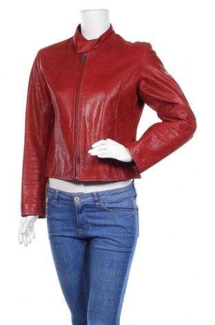 Дамско кожено яке Montgomery, Размер L, Цвят Червен, Естествена кожа, Цена 110,60лв.