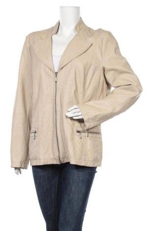 Дамско кожено яке Ms Mode, Размер XXL, Цвят Бежов, Еко кожа, Цена 23,31лв.