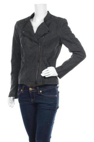 Дамско кожено яке ONLY, Размер L, Цвят Черен, Еко кожа, Цена 59,25лв.