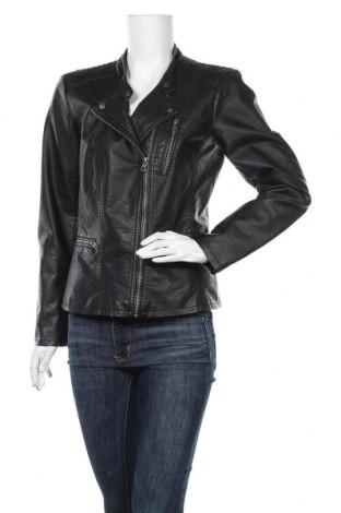 Дамско кожено яке ONLY, Размер L, Цвят Черен, Еко кожа, Цена 48,30лв.