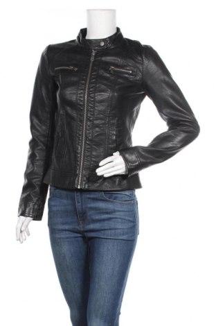 Дамско кожено яке ONLY, Размер S, Цвят Черен, Еко кожа, Цена 43,89лв.