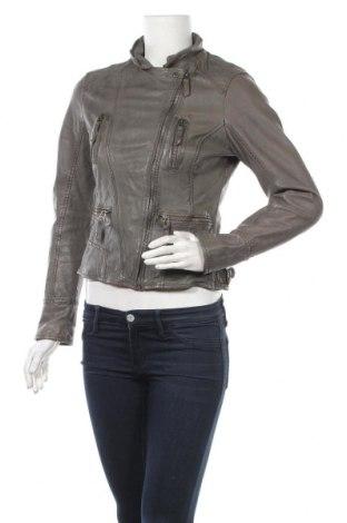 Дамско кожено яке Oakwood, Размер M, Цвят Сив, Естествена кожа, Цена 106,40лв.