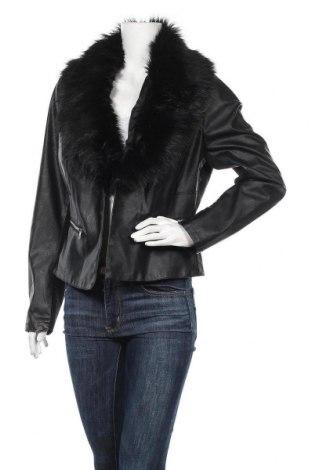 Дамско кожено яке Page One, Размер L, Цвят Черен, Еко кожа, текстил, Цена 44,10лв.
