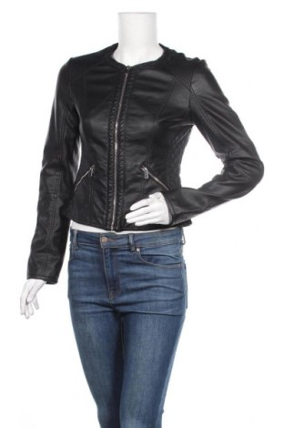 Дамско кожено яке Pimkie, Размер XS, Цвят Черен, Еко кожа, Цена 49,35лв.