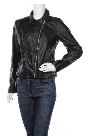 Дамско кожено яке Primark, Размер L, Цвят Черен, Еко кожа, Цена 33,92лв.
