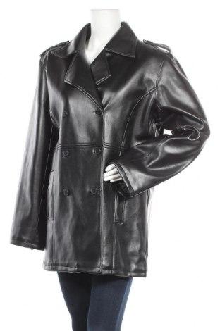 Дамско кожено яке Sensation, Размер L, Цвят Черен, Еко кожа, Цена 41,90лв.