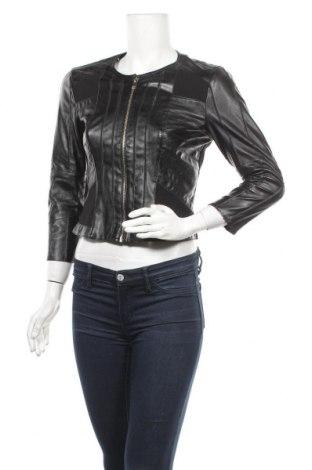 Дамско кожено яке Silvian Heach, Размер S, Цвят Черен, Еко кожа, вискоза, полиамид, еластан, Цена 46,50лв.