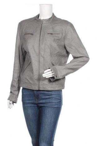 Γυναικείο δερμάτινο μπουφάν Soya Concept, Μέγεθος L, Χρώμα Γκρί, Δερματίνη, Τιμή 13,25€