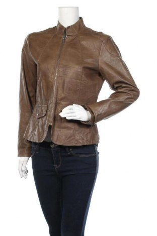 Дамско кожено яке Trend, Размер M, Цвят Кафяв, Еко кожа, Цена 30,71лв.