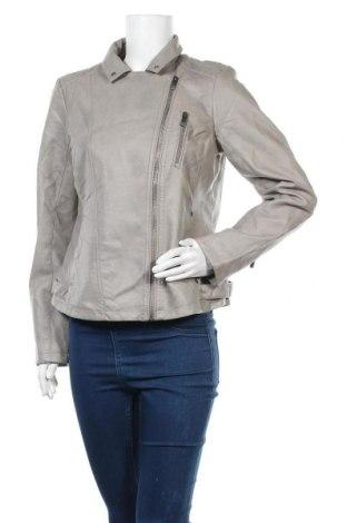 Γυναικείο δερμάτινο μπουφάν Up 2 Fashion, Μέγεθος M, Χρώμα Γκρί, Δερματίνη, Τιμή 22,21€