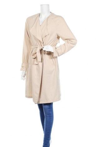 Дамско палто H&M Divided, Размер M, Цвят Бежов, 71% полиестер, 23% вискоза, 6% еластан, Цена 20,70лв.