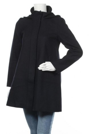 Γυναικείο παλτό Hallhuber, Μέγεθος M, Χρώμα Μπλέ, 75% μαλλί, 25% πολυαμίδη, Τιμή 45,47€