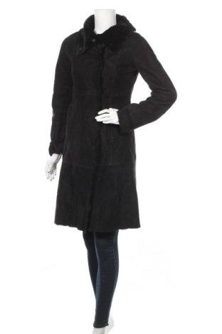 Дамско кожено палто Theory, Размер S, Цвят Черен, Цена 183,30лв.