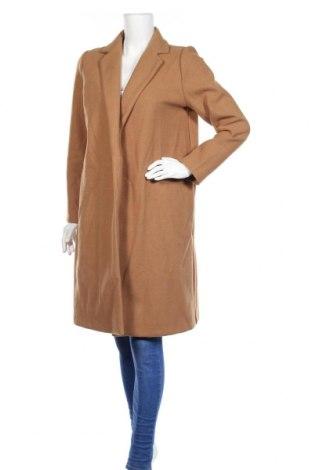 Дамско палто Zara, Размер L, Цвят Кафяв, 100% полиестер, Цена 76,30лв.