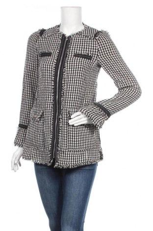 Дамско палто Zara Trafaluc, Размер S, Цвят Черен, 32% памук, 30% полиестер, 16% акрил, 13% вискоза, 7% вълна, 2% полиамид, Цена 23,36лв.