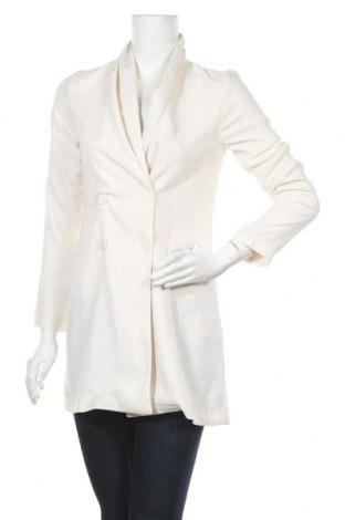 Дамско палто Amisu, Размер S, Цвят Бял, Полиестер, Цена 11,34лв.