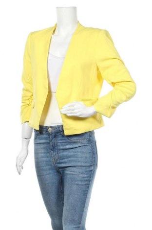 Дамско сако H&M, Размер L, Цвят Жълт, 64% полиестер, 34% вискоза, 2% еластан, Цена 27,93лв.