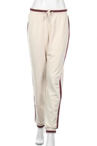 Γυναικείο αθλητικό παντελόνι ONLY, Μέγεθος M, Χρώμα  Μπέζ, 60% βαμβάκι, 40% πολυεστέρας, Τιμή 20,88€
