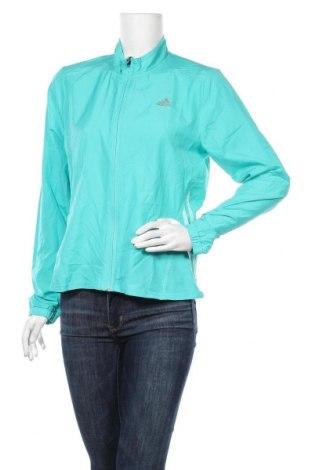 Γυναικεία αθλητική ζακέτα Adidas, Μέγεθος M, Χρώμα Πράσινο, 100% πολυεστέρας, Τιμή 22,21€