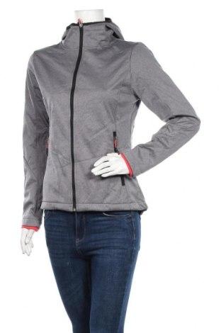 Дамско спортно яке, Размер S, Цвят Сив, Полиестер, Цена 31,92лв.