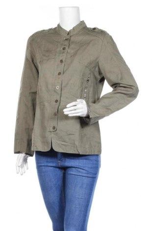 Дамско яке, Размер L, Цвят Зелен, 65% лен, 35% памук, Цена 8,40лв.