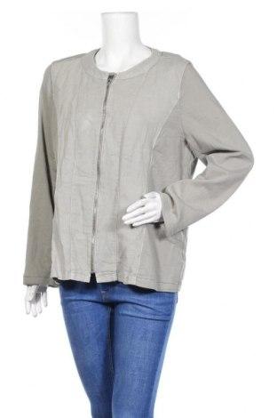 Дамско яке Gina Laura, Размер L, Цвят Сив, 85% памук, 3% еластан, 2% лен, Цена 8,66лв.