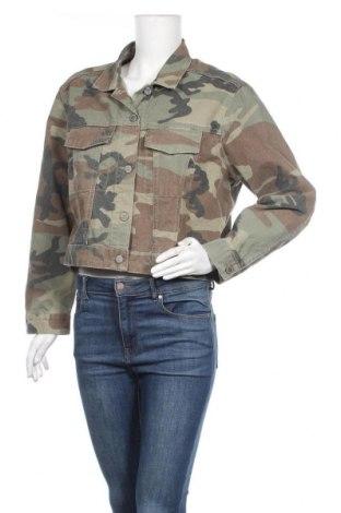 Γυναικείο μπουφάν Perfect Jeans By Gina Tricot, Μέγεθος L, Χρώμα Πράσινο, Βαμβάκι, Τιμή 8,87€
