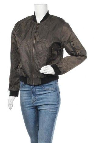 Дамско яке Zara, Размер M, Цвят Зелен, Полиестер, Цена 14,55лв.
