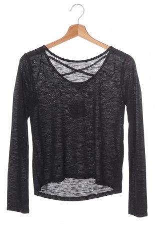 Детска блуза H&M, Размер 12-13y/ 158-164 см, Цвят Черен, 65% полиестер, 35% вискоза, Цена 3,94лв.
