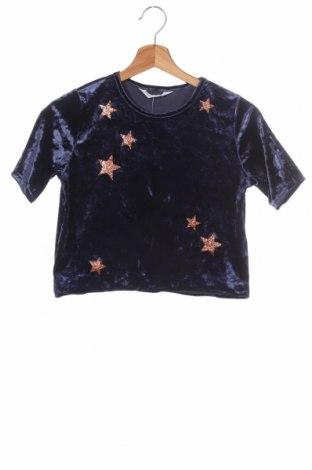Bluză pentru copii H&M, Mărime 10-11y/ 146-152 cm, Culoare Albastru, 93% poliester, 7% elastan, Preț 7,89 Lei