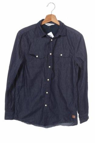 Παιδικό πουκάμισο H&M, Μέγεθος 13-14y/ 164-168 εκ., Χρώμα Μπλέ, Βαμβάκι, Τιμή 4,97€