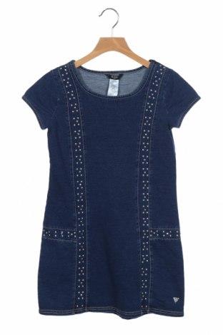 Детска рокля Guess, Размер 13-14y/ 164-168 см, Цвят Син, 87% памук, 9% полиестер, 4% еластан, Цена 40,95лв.