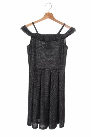 Dětské šaty  Here+There, Velikost 10-11y/ 146-152 cm, Barva Černá, 85% polyester, 9% elastan, 6% kovové nitě, Cena  100,00Kč