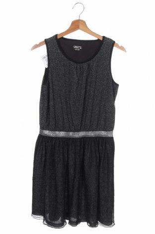 Παιδικό φόρεμα Units, Μέγεθος 12-13y/ 158-164 εκ., Χρώμα Μαύρο, 55% βαμβάκι, 45% μεταλλικά νήματα, Τιμή 7,02€