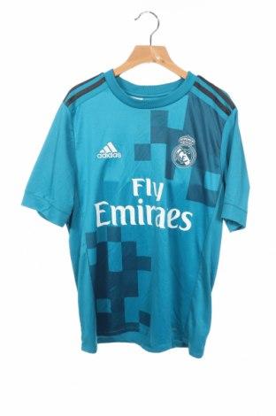Παιδικό μπλουζάκι Adidas, Μέγεθος 12-13y/ 158-164 εκ., Χρώμα Μπλέ, 100% πολυεστέρας, Τιμή 18,19€