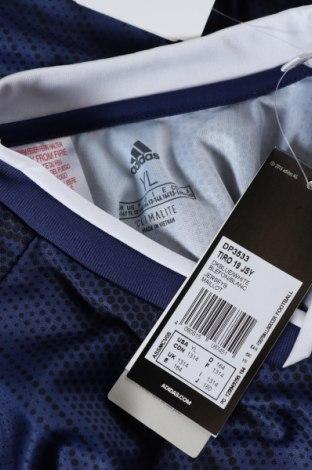 Παιδικό μπλουζάκι Adidas, Μέγεθος 12-13y/ 158-164 εκ., Χρώμα Μπλέ, Πολυεστέρας, Τιμή 8,51€