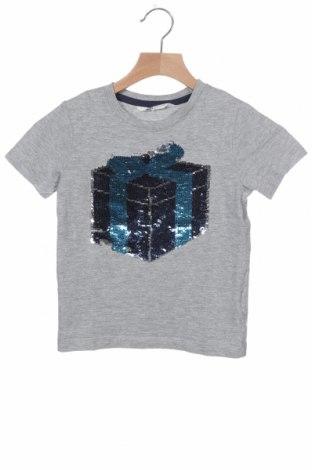 Παιδικό μπλουζάκι H&M, Μέγεθος 4-5y/ 110-116 εκ., Χρώμα Γκρί, 90% βαμβάκι, 10% βισκόζη, Τιμή 7,53€