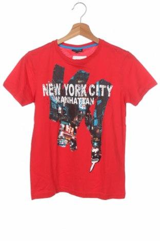 Παιδικό μπλουζάκι KappAhl, Μέγεθος 10-11y/ 146-152 εκ., Χρώμα Κόκκινο, Βαμβάκι, Τιμή 14,19€