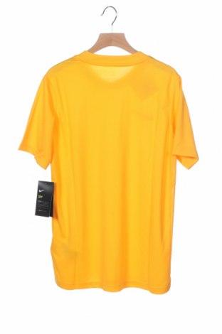 Παιδικό μπλουζάκι Nike, Μέγεθος 10-11y/ 146-152 εκ., Χρώμα Κίτρινο, Πολυεστέρας, Τιμή 22,81€